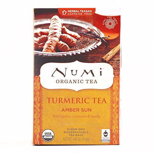 Numi Amber Sun Turmeric Tea 12-Count 1.46 oz each (1 Item Per Order, not per case)