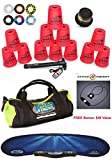 Speed Stacks Custom Combo Set The Works: 12 NEON PINK Cups, Cup Keeper, Quick Release Stem, Pro Timer, Gen 3 Mat, 6 Snap Tops & Gear Bag + Active Energy Power & Balance Necklace $49 Value