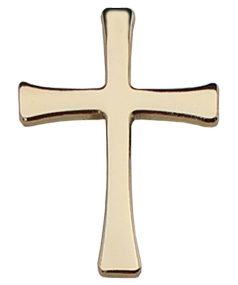 Christian Cross - Gold Lapel Pin Flagline