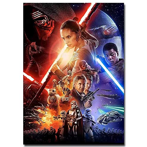 Star Wars Poster Full Drill Diamond Painting 5D DIY Diamond Embroidery Cross Stitch Crystal Rhinestone Art Craft Movie Pictures Mosaic Painting Home Wall Decoration (12X16IN/30X40CM),B