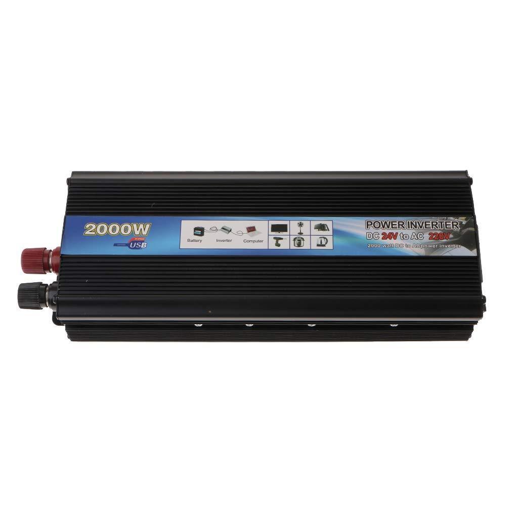 Baoblaze 2000W 24V to 220V Modified Sine Wave Inverter RV//Truck//Car//Home Solar Converter Black