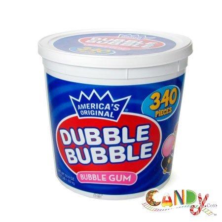 Dubble Bubble 340 Pieces Tub: 1 Count by (Concord Tub)