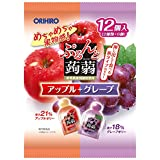 Orihiro plan du Puru do and konjac jelly pouch apple + grape 20gx12 pieces X6 bags