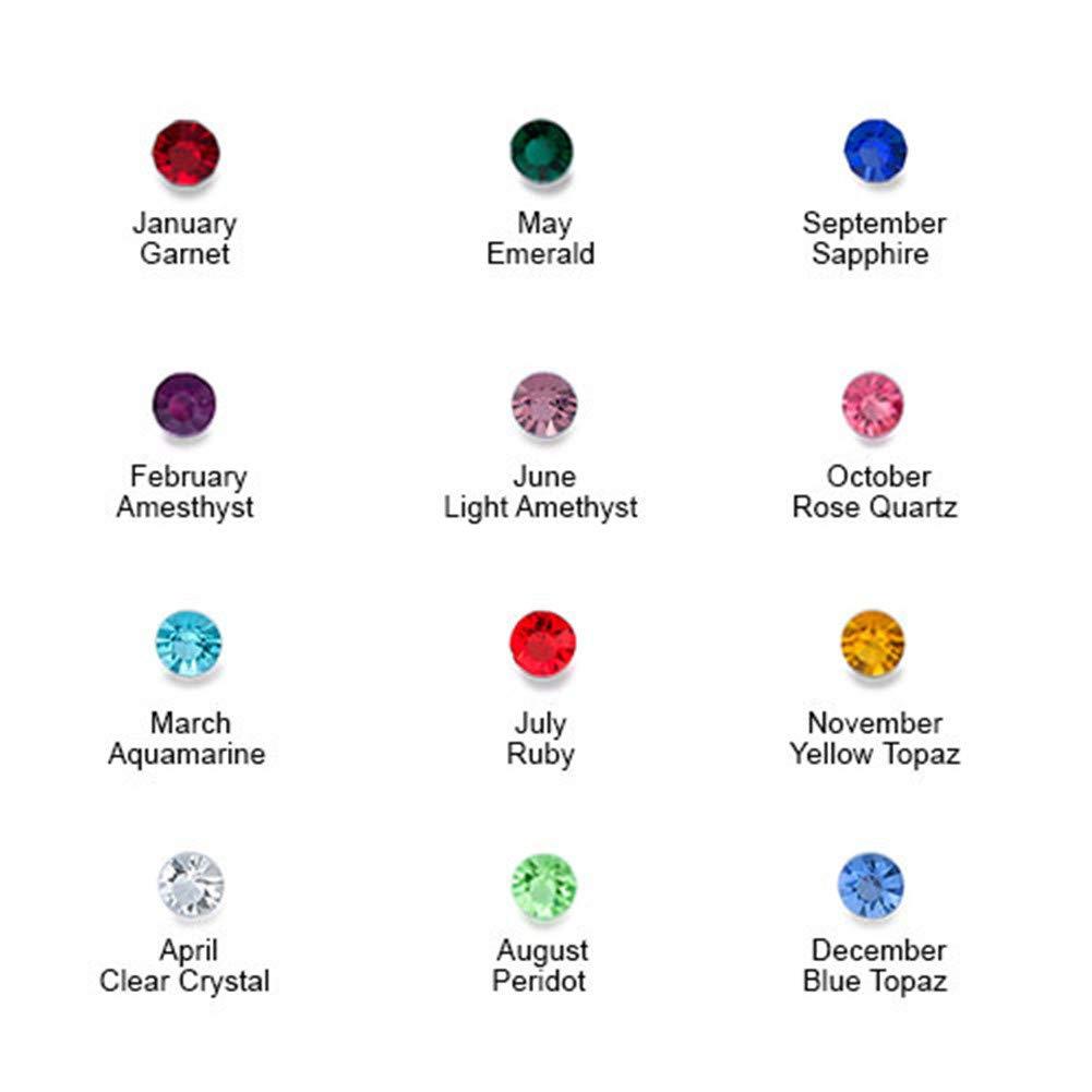 Lovefir Personalized Floating Gems Locket for Mom or Dad