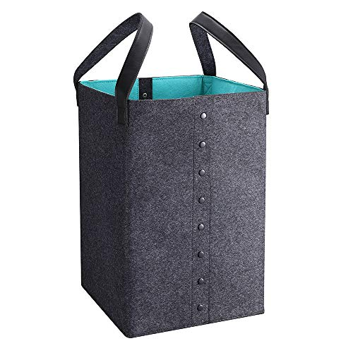 DYD Laundry Basket with Handles Hampers for Laundry Storage Baskets Well-Holding Foldable Durable Felt Decorative Laundry Basket for Toys Clothing Organization