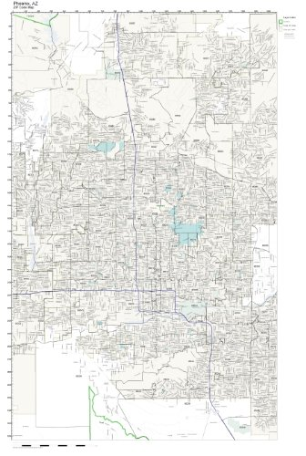 Amazon.com: ZIP Code Wall Map of Phoenix, AZ ZIP Code Map ...