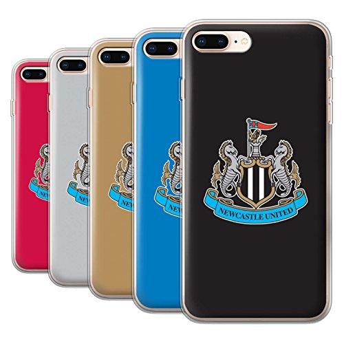 Offiziell Newcastle United FC Hülle / Gel TPU Case für Apple iPhone 8 Plus / Pack 12pcs Muster / NUFC Fußball Crest Kollektion
