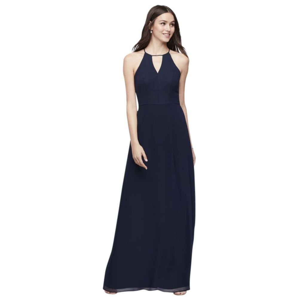 David s Bridal Chiffon Keyhole Bridesmaid Dress with Cutaway Back Style  W60000 at Amazon Women s Clothing store  f6850e79b