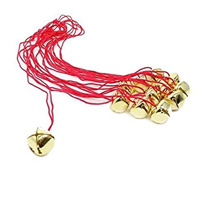 Dazzling Toys Christmas Jingle Bell Necklaces 12 Pack | Great Christmas Idea | Seasonal Novelty Gold Toned Jingle Bell Friendship Necklaces 12 Pc Set | Kids Fashion Jewelry Set of 12 Party Favors: Toys & Games