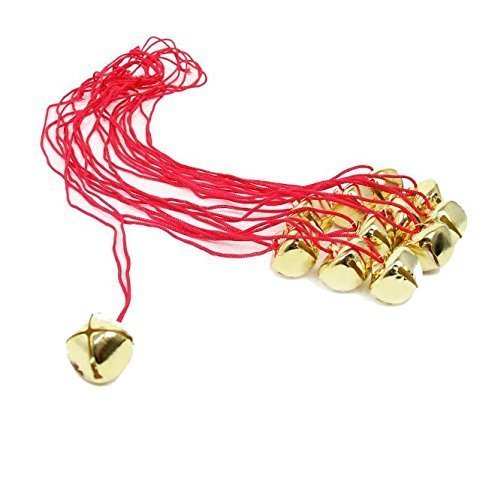 - Dazzling Toys Christmas Jingle Bell Necklaces 12 Pack | Great Christmas Idea | Seasonal Novelty Gold Toned Jingle Bell Friendship Necklaces 12 Pc Set | Kids Fashion Jewelry Set of 12 Party Favors