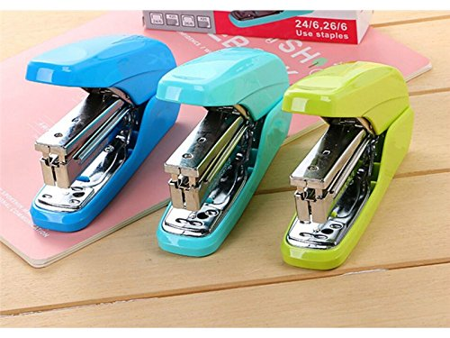 School Creative Labor-Saving Home Office Learning Stationery Stapler Home Office Book Sewer(Sky Blue) Office School