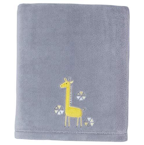 (Hebel Little Love by Giraffe Time Appliqued Coral Blanket, Yellow | Model BLNKT - 4 | 26)