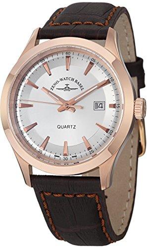 Zeno Men's 6662-515QPGR-F3 Vintage Line Analog Display Quartz Brown Watch