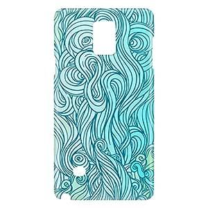 Loud Universe Galaxy Note 5 Waves 5 Print 3D Wrap Around Case - Blue