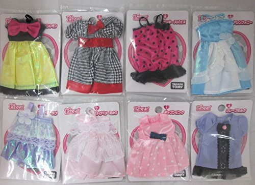Japan Import Licca Licca-chan Legally dress selection 8 pieces set - Licca Dress Set
