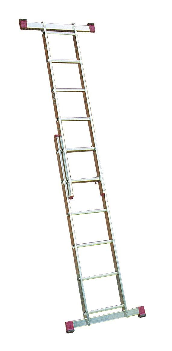 Leiterger/üst 2x6 Sprossen AH 3m auch als Steh Anlegeleiter nutzbar Corda Krause 080011 u