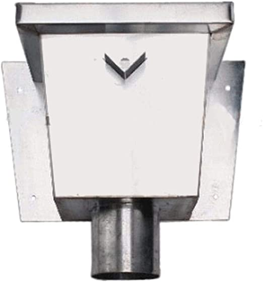 Wasserfangkasten quadratisch lang Titanzink 100 mm