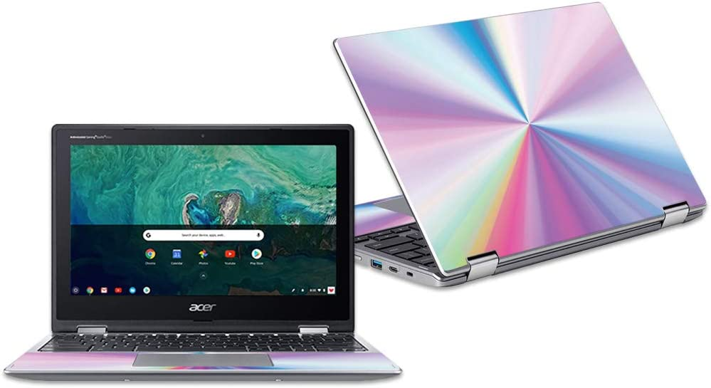 """MightySkins Skin Compatible with Acer Chromebook Spin 11"""" CP311 - Rainbow Zoom   Protective, Durable, and Unique Vinyl Decal wrap Cover   Easy to Apply, Remove, and Change Styles   Made in The USA"""