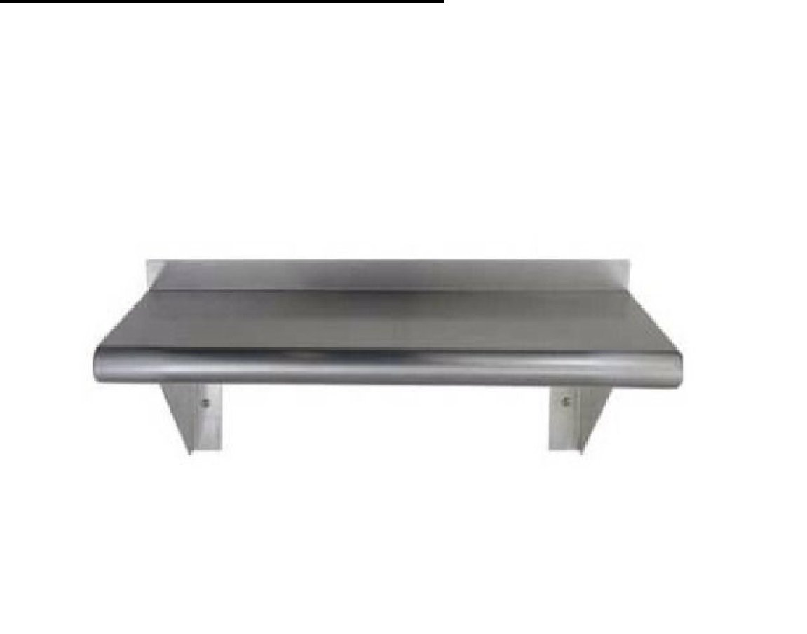 Stainless Steel Wall Mount Shelf 18 x 60 - NSF - Heavy Duty by ACME USA