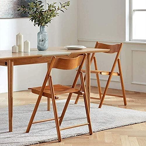 Bois massif Chaise pliante Dossier Chaise de salle à manger Chaise de réception Ménage Loisir bureau de famille Café