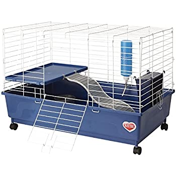 Kaytee My First Home Deluxe Guinea Pig 2-Level Cage with Caster Wheels