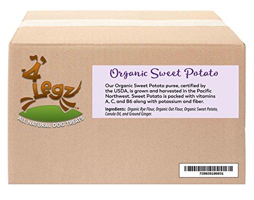 4Legz Organic Sweet Potatoes All Natural Crunchy Non-GMO Dog Treats, 10 Pound (Sweet Organic Dog Treats Potato)