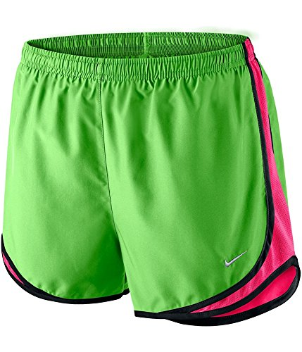 Nike Tempo Women's Athletic Training Running Shorts Action Green/Hyper Pink/Black (XS X 3)