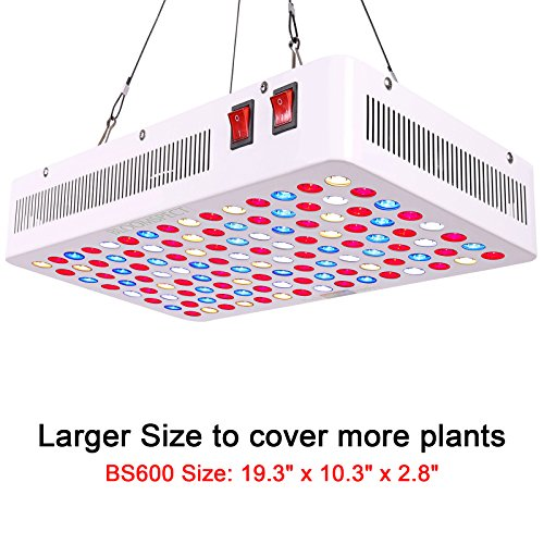 BLOOMSPECT 600W LED Grow Light for Indoor Greenhouse Hydroponic Plants Veg Bloom Switches Daisy Chain by BLOOMSPECT (Image #1)