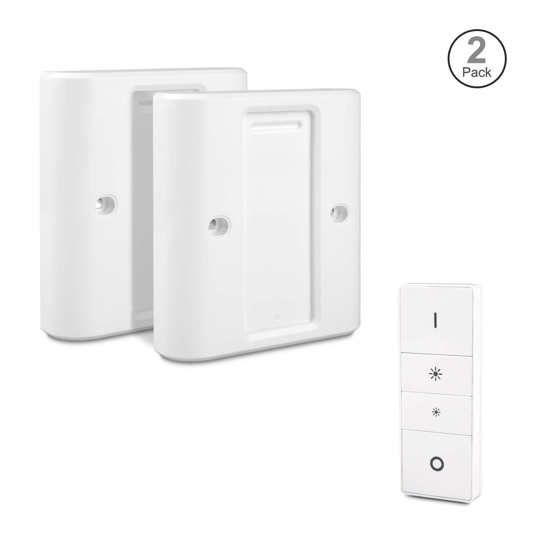 Homegoo Dimmable Via Smart Wireless pour Plaque de Convertisseur Dadaptateur de Commutateur Standard UE//UK Couvercle dinterrupteur pour Philips Hue White Dim Switch