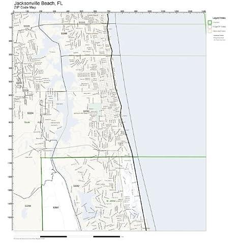 jacksonville fl zip code map