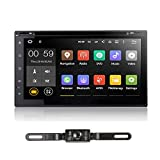 7'' Car Stereo Auto Radio– Ehotchpotch Andriod 7.1 Double Din Audio in dash car radio Systems Multimedia DVD Receiver GPS Navigation AM/FM Phone Mirror, 4G, WIFI, OBD2, 1080P, Dual Zone Function