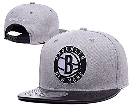 NBA limpiar Brooklyn Nets gris ajustable Gorra, talla única ...