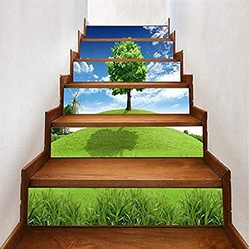 Adhesivo De Escalera Árbol 3D Escaleras Etiqueta Corredor Escaleras Escaleras Decorativas Piso Pegatinas De Pared De Pvc (100 * 18cm)*13pcs: Amazon.es: Bricolaje y herramientas