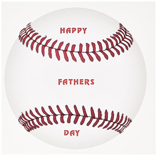 (3dRose Huge baseball With Happy Fathers Day On It - Greeting Cards, 6 x 6 inches, set of 12 (gc_109484_2))