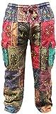 SHOPOHOLIC FASHION Unisex Traditional Symbols Hippy Boho Trouser,Festival Pants (XXXL)