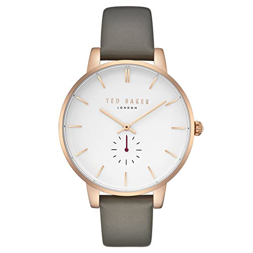 9392db846e3e Ted Baker Womens Analogue Quartz Watch with Leather Strap TE50310002   Amazon.co.uk  Watches