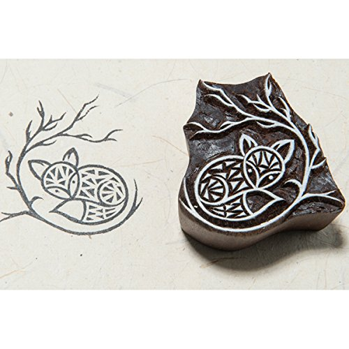 Fox Block (Blockwallah Block Stamp-Fox In The Woods)
