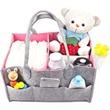 NinkyNonk Baby Diaper Caddy Basket Organizer Large Portable...