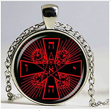 Amazon fashion jewelry rosicrucian cross rose pendant magic fashion jewelry rosicrucian cross rose pendant magic hermetic occult antique necklace mozeypictures Image collections
