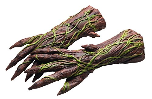 Halloween Gloves (Rubie's Costume Men's Guardians Of The Galaxy Groot Costume Hands, Multi, One Size)