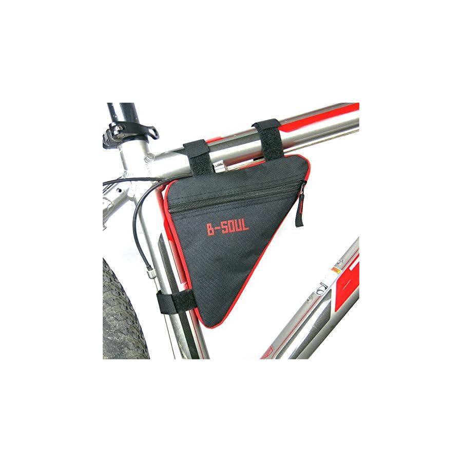 Qzc Bike Seat Pack Bike Bag Cycling Bicycle Frame Front Triangle Bag Bike Under Seat Top Tube Bag For Bike Tube Frame (Red)