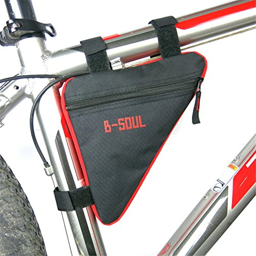 Qzc Bike Seat Pack Bike Bag Cycling Bicycle Frame Front Triangle Bag Bike Under Seat Top Tube Bag For Bike Tube Frame (Red)