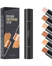 Mysense 6 Colors Contour Stick,Contour Concealer Highlighter Stick,Double Head Body Face Brightens & Shades Make Up Foundation Cream Pen,3pcs
