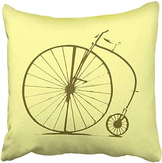 Silueta de bicicleta bicicleta vintage con funda de colchoneta ...