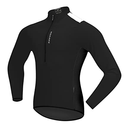 59115939b Baosity Men Women Compression Top T Shirts Quick Dry Compression Cycling  Jersey Half Zip Long Sleeves Top Outdoor Sports Biking Shirt Fitness Gym  Tops ...