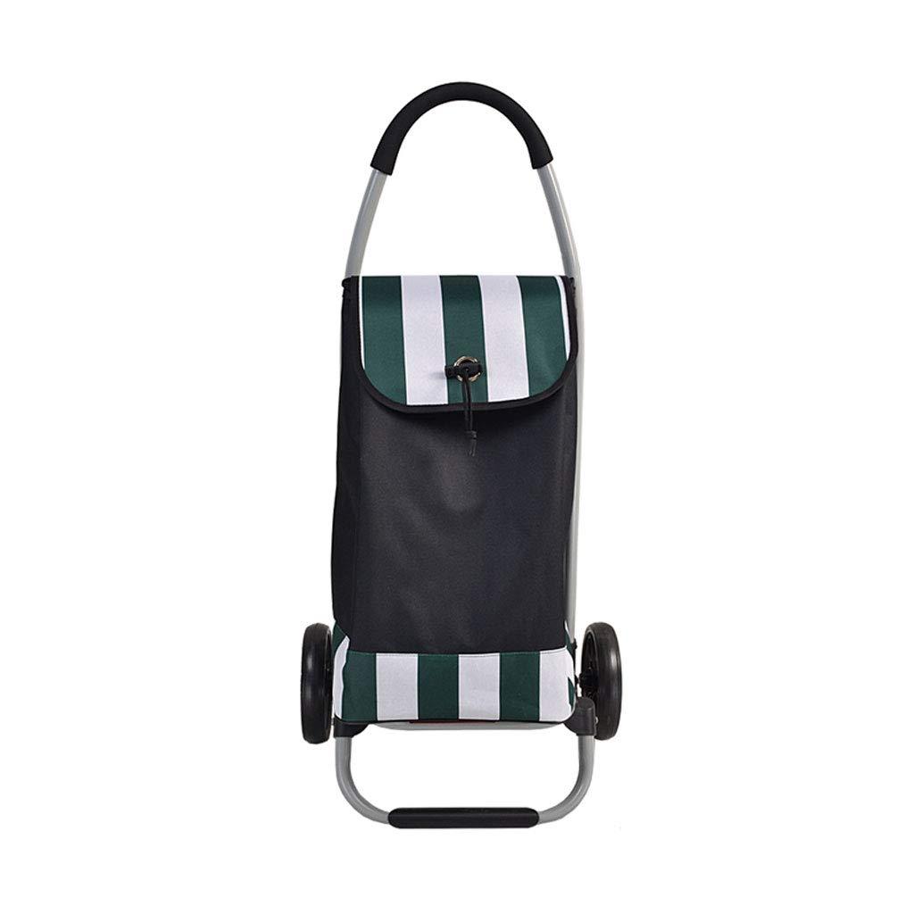 ショッピングカートショッピングトロリーショッピングバッグ荷物カート車輪付きトロリー食料品折り畳み式カートアウトドアアクティビティトロリー   B07KK9348R