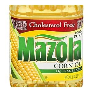 Mazola 100% Pure Corn Oil, Cholesterol Free, 40 Fl Oz