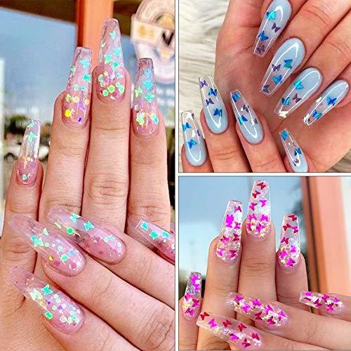 Butterfly Nail Art Sequins 3D Nail Art Glitter Butterfly ...