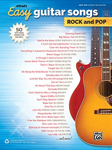 Alfred's Easy Guitar Songs -- Rock & Pop: 50 Hits from Across the Decades ()