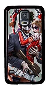 Rugged Samsung Galaxy S5 Case and Cover - Joker and Harley Quinn Custom Design PC Case Cover for Samsung Galaxy S5 - Black
